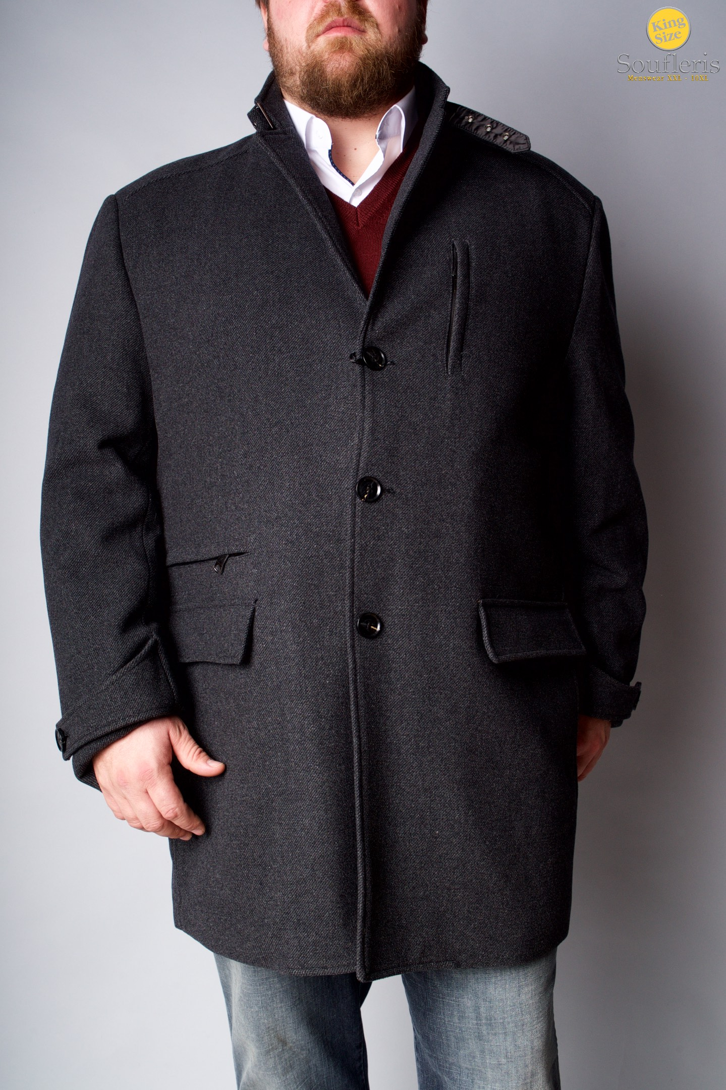 f19fd7bed8bf ΠΑΝΩΦΟΡΙΑ   ΠΑΛΤΟ MASTER TAILOR - 00000390 - ΓΚΡΙ
