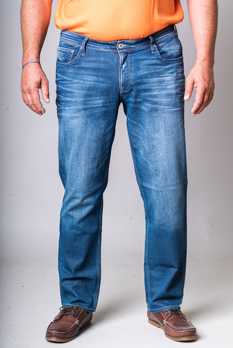 XXL ΤΖΙΝ JACK&JONES ORIGINAL - 00002556 - MEDIUM BLUE DENIM KingSizeSoufleris