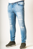 JEAN JACK & JONES SLIM STRAIGHT ΣΚΙΣΙΜΑΤΑ - 00003249 - LIGHT BLUE DENIM